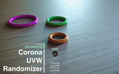 Corona UVW Randomizer per Cinema 4D